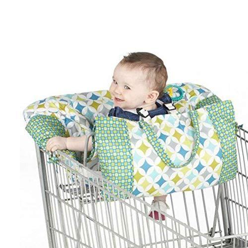 BAOLE Cojines carrito infantil asientos para carros Asientos portabebés asientos bebés portátiles bolsa de compra esteras para sillas de carrito de compra Shopping cart cushion fundas parta reliable