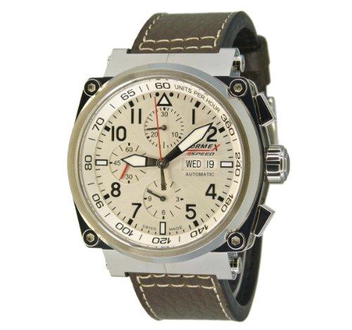 Formex 4 Speed Herren-Armbanduhr XL AS1100 Chronograph Automatik Leder 1100.1.8040