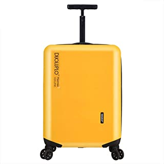 Lightweight Travel Carry On Hand Cabin Luggage,Hard Shell Luggage with TSA Lock and 4 Spinner Wheels Zipper Boarding (Color : Yellow, Size : 22 inch)
