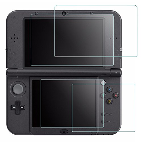Screen Protector for Nintendo NEW 3DS XL, AFUNTA 4 Pcs Tempered Glass for...