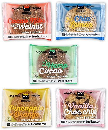 Kookie Cat Set 5x 50g (bio, vegan) 5 Sorten glutenfreie Hafer-Cashew-Kekse