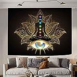 Chakra Tapestry Wall hanging Colorful Chakra tapestry Washable Zen tapestry Wall hanging,Indian Yoga Meditation Tapestry, Meditation mat,Room,Student dormitory(59.1*82.7inches)SSA053…