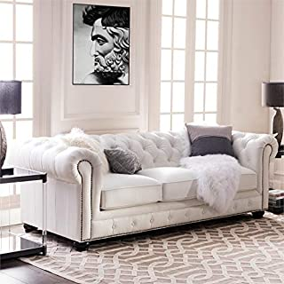 Best white tufted leather sofa Reviews