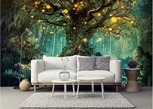 Tapete Fototapete Hintergrund-Tapeten 3D Tapeten Ästhetizismus Mode Interior Tapete Fantasie Wald Wunsch Baum Wohnzimmer Tv Hintergrund Tapeten 200 * 140 Cm