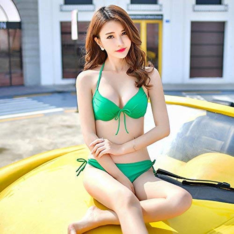 ZHRUI ZHRUI ZHRUI Südkoreanischer Badeanzug, dünner Bikini, Zwei Sets Badeanzüge, XL, Grün (Farbe   -, Größe   -) B07MHV653V  Online-Shop d5b62f
