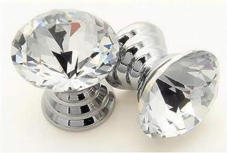 Grepen Transparante Crystal Glass Geometric Diamond Cutting Knop Mini 16mm 10 Stuk Storage Box Jewelry Box Cosmetische Cas...
