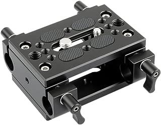 NICEYRIG Shoulder Support Camera Baseplate with 15mm Rod Clamp Railblock for Rod Support/DSLR Rig Cage