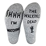 BEMINH Men Socks Warm Winter Soft Warm Gifts Shhh I'm Watching The Walking Dead Funny Crew Socks Halloween Socks Gifts