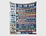 Manta Familiar para mi Hijo Soy la tormenta Recuerda de quién Pronto serás...