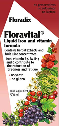 Floradix Foravital Yeast & Gluten Free Liquid Iron Formula 500ml