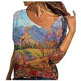 Camiseta de manga larga para mujer, cuello diagonal, elegante, para otoño, invierno, primavera, negro A, XL