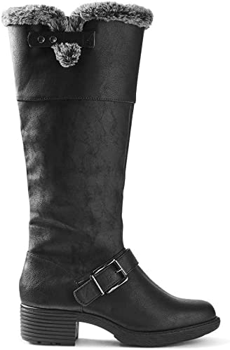 Ex Marks & Spencer T028787 M&S Collection - Stiefel de Piel sintética con Hebilla