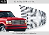 Stainless Steel 304 Billet Grille Compatible with 1992-1996 Ford Bronco F-150 F-250 F-350 polished chrome F85007S