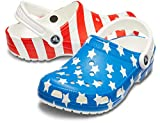 Crocs Classic American Flag Clog, white/multi, 10 US Women / 8 US Men