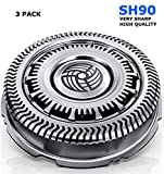SOBAMART Sh90 Blades Compatible with Philips Norelco Shaver Replacement Heads Series 9000