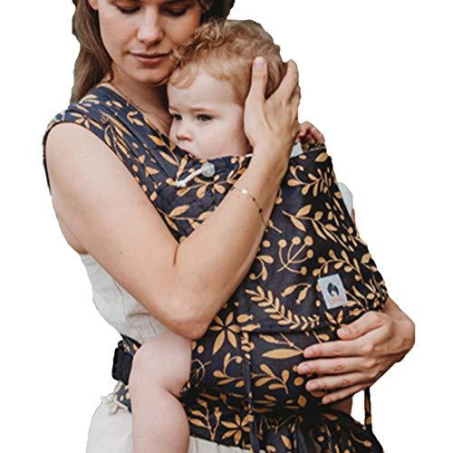 LIMAS Babytrage Halfbuckle | 50-86 cm | Bauchtrage & Rückentrage & Hüfttrage | ab Geburt bis Kleinkindalter | Baby Carrier | Flora Honey Moon
