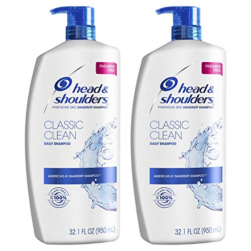 Head and Shoulders Shampoo, Anti Dandruff Treatment and Scalp Care, Classic Clean, 32.1 fl oz, Twin Pack