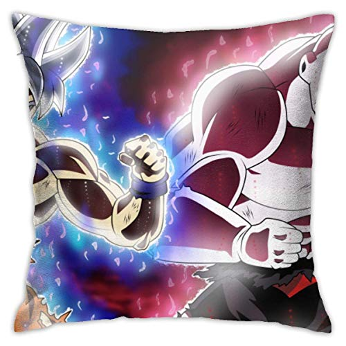 Funda de almohada Son Goku Dragon Ball Super Ultra Instict Mastered Ultra Instinct Jiren The Gray Jirendragon Ball 45,7 x 45,7 cm, fundas de almohada de poliéster para el cabello y la piel