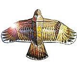MJ-Brand Gran Cometa de pájaro águila para niños Adultos - Enorme envergadura y diseño Realista - Mosca fácil de Montar - Excelente Juguete para Exteriores