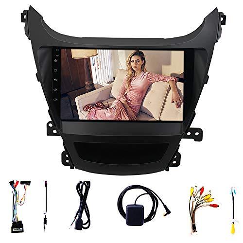 Tlyd Pantalla de navegación del automóvil Pantalla templada de 9 Pulgadas Soporte Templado WiFi FM Asistencia de inversión y Bluetooth Manos Libres Se Utiliza para 14~15 Hyundai Elantra 1 + 16G
