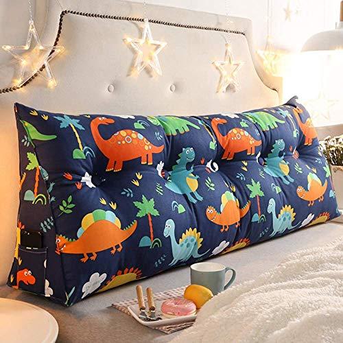Comfortabele kussen dubbele kop driehoekig kussen lumbale bank opnieuw zacht hoofdeinde grote weer op het bed (Color : A, Size : 90 * 22 * 50cm)