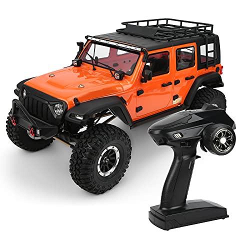 BTER RC Rock Crawler, 1/10 Scale 2.4GHz 4WD Off Road RC Car con Luces LED y diseño de absorción de Impactos Funciona con Pilas, Impermeable, Control Remoto, camión de Juguete para niños, Adultos