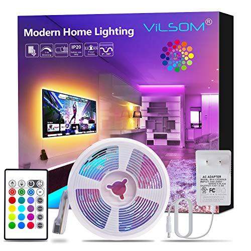 ViLSOM Led Strip Lights, 16.4ft Light Strip Kit with Remote and SMD 5050