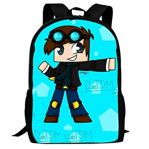 FANsdhs-B School 3D Printed Dan-TDM Shoulder Backpacks, Student Laptop Book Bag for Kids/Students/Children