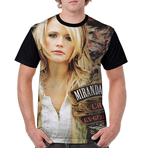 LYZBB Sportbekleidung Herren Kurzarmshirt, Miranda Lambert Music Men's Print Fashion Shirt Short-Sleeved T-Shirt