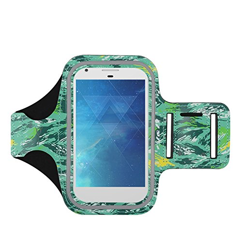 J&D Armband Compatible for Google Pixel 4 XL/Pixel 2 XL 2017/ZTE Axon 10 Pro/Nokia 7.2/Nokia 3 V Armband, Sports Running Armband with Key Holder Slot, Perfect Earphone Connection while Workout Running