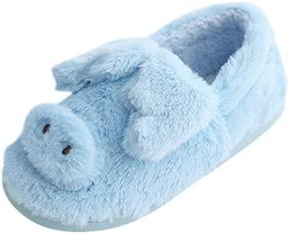 LONGDAY Girl Cute Home Slippers Kid Fur Lined Winter House Slippers Warm Indoor Comfy Women Scuff Memory Foam Slip On