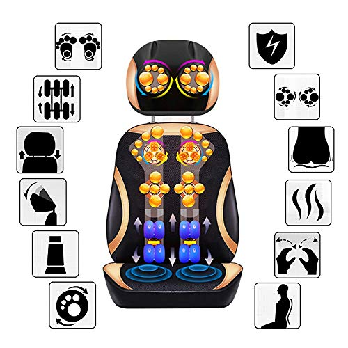 Check Out This Massager Seat Pads Neck Back and Hip Massager 26 Shiatsu Massage Heads with Heated Vi...