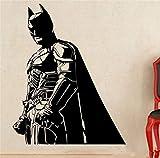 Batman Sticker Mural Sticker Batman Sticker Mural Chevalier Noir Super-Héros Marvel Comics Décalque De Vinyle Maison Décoration Intérieure