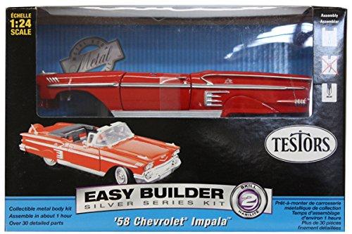 Testors Prepainted Metal Car Model Kit, Red
