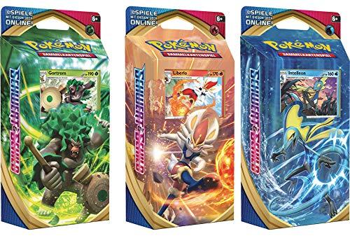 Unbekannt Pokemon Schwert & Schild - 3 Verschiedene Themendecks - 1x Gortrom 1x Liberlo 1x Intelleon - Deutsch