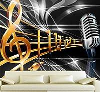 Wkxzz 壁の背景装飾画 カスタマイズされた大壁画ファッションホームデコレーションダイナミックミュージックシンボルバーKtvボックス背景壁紙-280X200Cm