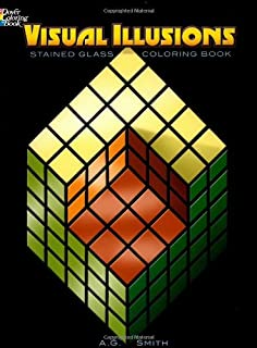 Visual Illusions Stained Glass Coloring Book (Dover Design Stained Glass Coloring Book)