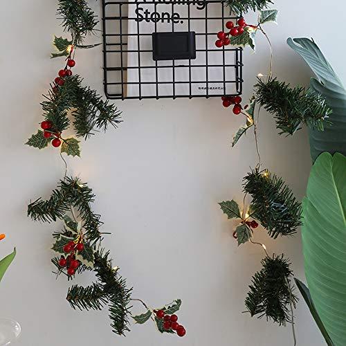 Sunjuly - Luces navideñas LED, 2 m, 20 LED, con alambre de cobre, luz blanca cálida, decoración alimentada con pilas para casa, Navidad, fiestas, bodas (B)