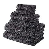 Bagno Milano 100% Turkish Cotton Jacquard Luxury Towel Set – Quick Dry Non-GMO Ultra-Soft, Plush...