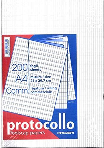 200 Fogli Protocollo A4 Commerciale Blasetti