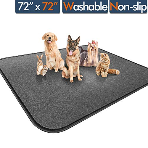 """Gimars Upgrade Heavy Absorbency Non-Slip Washable Dog Pee Pads, Reusable 72""""x72"""" Anti-Tear Dog Training Pads, Quick Dry Whelping Pads for Dogs, Dog Pads for Incontinence, Crate, Playpen Pads Training Trays"""