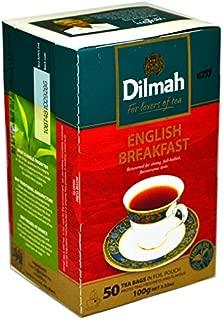 Dilmah English Breakfast Ceylon Tea - 50 Tea Bags 100g