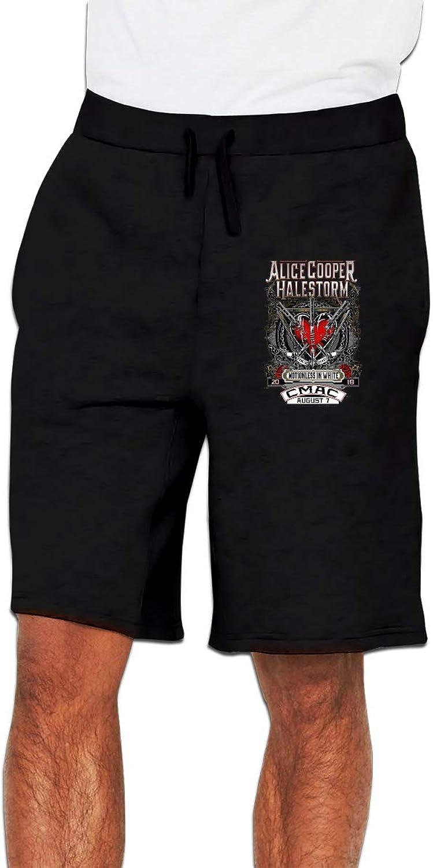 Zinmmerm Men's Casual AliceCooperCMAC Sweat Shorts