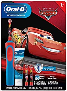 Black Friday: Oral-B Stages Vitality Kids Disney Pixar's Cars Rechargeable Electric Toothbrush + Toothpaste Bundle Pack (3+)