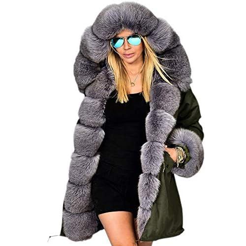 Roiii Lady Winter Women Thicken Warm Coat Hood Parka Long Jacket Outwear Size 8-20