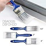 Be-Tool Set di pennelli per finiture da 5 cm e 3,8 cm, per decorare le pareti, per tutti i...