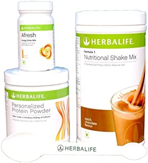 Herbalife Weight Loss Package: Formula 1 Chocolate + Personalized Protein Powder Ppp + Afresh elaichi