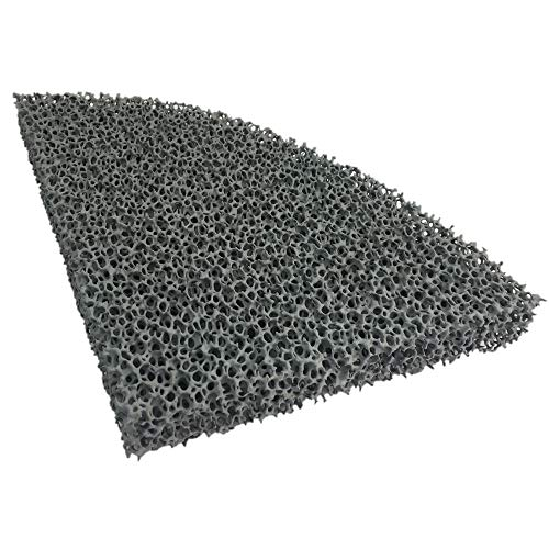 Flamado Kaminofen Feinstaub Rußfilter 228 x 178 x 25 mm (1/4 Rund) Kamin Brennraum Ersatzteil