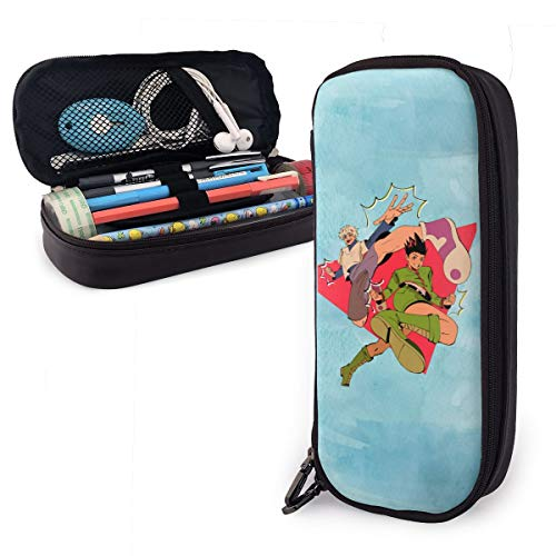 HunterXHunter Pencil Case,Large Capacity Pen Case Pu Pencil Bag Pouch Pen Pencil Marker Stationery Organizer with Double Zipper Big Storage Compartments for Boys Girls Students School Office