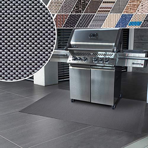 casa pura Grillmatte | Unterlage für Grill zum Schutz von Balkon und Terrasse | robuster + abwaschbarer Bodenschutz in 3 Größen - Lucca 90x120 cm